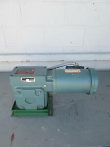 Reliance P56h1440s ps 1 5 Hp Duty Master Ac Motor W Gear Reducer Frame Fc56c