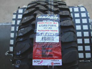 4 New Tires 265 75 16 Renegade R7 M t Lt265 75r16 Traction mud Terrain Lre Owl