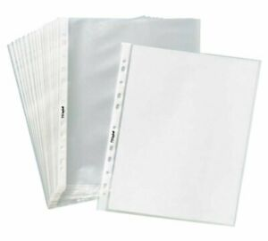 1000clear Sheet Page Protectors Plastic Office Document Sleeves Non Glare 8