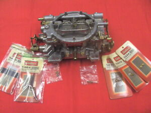 Carburetor Performer Series Edelbrock 1407 Used With Extra Jets Rods Springs