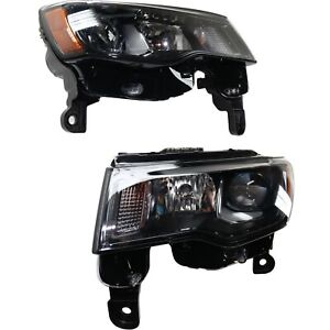 Headlight For 2017 2019 Jeep Grand Cherokee Pair Driver And Passenger Side