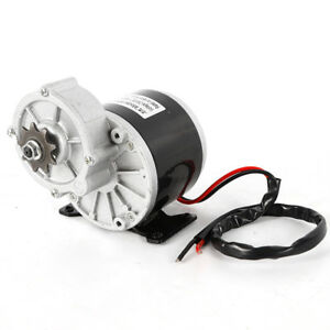 350w Electric Vehicle Geared Motor 2 Poles Carbon Brush 300 Rpm 24 V Durable