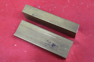 2 Pieces 1 X 2 C360 Brass Flat Bar 6 Long New Solid Mill Stock H02