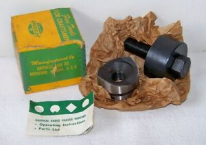 Vtg Greenlee Tool Co No 730 Size 2 Round Radio Chassis Punch W box Usa