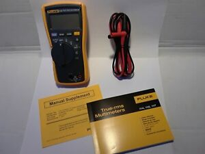 Fluke 114 Digital Trms Multimeter Voltmeter Cat Iii 600v Ships Free Brand New