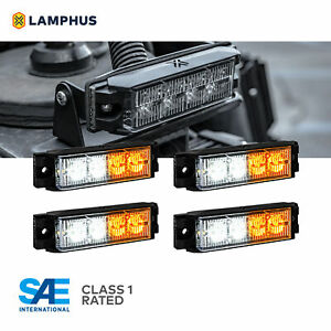 4w Led Emergency Vehicle Strobe Grille Light Head Police Firefighter Amber White