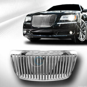 Fit 11 14 Chrysler 300 300c Chrome Vertical Front Hood Bumper Grill Grille Guard