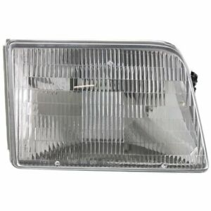Headlight For 93 1994 95 96 1997 Ford Ranger Right Halogen Clear Lens With Bulb
