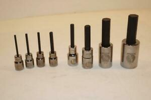 New Armstrong 8pc 1 8 To 5 8 Hex Bit Set 1 4 And 1 2 Drive Usa Made