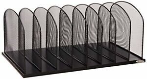 Onyx Letter Trays Stacking Supports Mesh 8 Sort Vertical Desktop Organizer