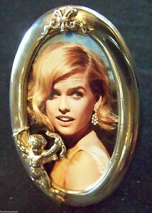 Superb English Sterling Oval Angel Picture Photo Frame More View All Our Lots