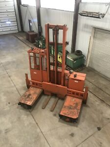 Raymond Electric Forklift Sideloader 20 Lift Wide Forks 6000