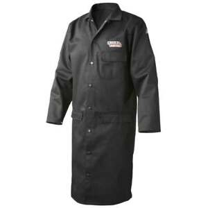 Lincoln Electric K3112 9oz Fr Black Welding Lab Coat X large