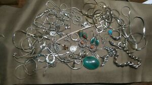 Lot Vintage 234gr 925 Sterling Silver Scrap Or Not