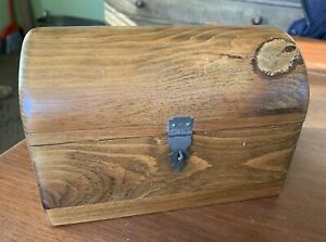 Nice Small Vintage Handcrafted Domed Top Pine Box 7 3 4