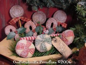 Primitive Christmas Candy Tree Ornies Holiday Bowl Filler Winter Tucks Pattern