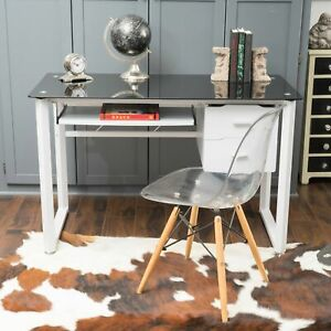 Reeve Tempered Glass Computer Desk With Storage Drawers By Christopher Knight