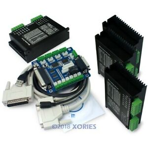 4 Cnc M542h Stepper Driver Controller 5 Axis Breakout Board demo Mach3 Cable