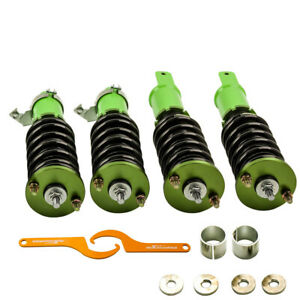 For Honda Civic 92 00 Integra 94 01 Adj Height Coilovers Shock Absorbers Green