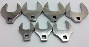Snap On Crows Foot Open End Wrench 1 2 Drive Crows Feet Set 7pc Sco64 Sco60