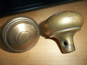 Vintage 2 Lot Brass Door Knobs