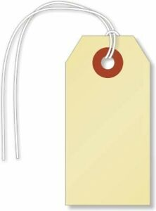 Smartsign Pack Of 1000 Blank Shipping Tags With Attached String 1 375 X 2 75