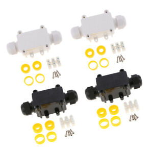 4set Waterproof Junction Box Ip68 Outdoor Cable Connector Box Black white