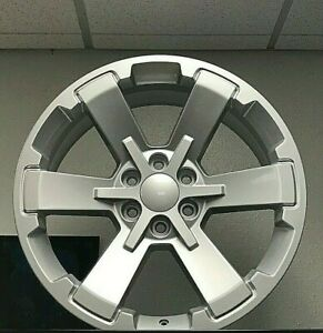 4 22 X 9 Chevy Sliverado 1500 Rally Ck 162 5662 Wheels Rims Silver Tahoe Gmc