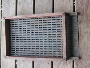 Original Vintage Primitive Wood And Metal Grain Sifter Strainer