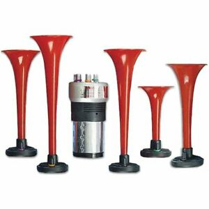 Wolo Manufacturing 430 Horn Air Red Abs Plastic Musical Universal