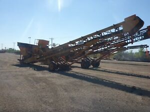 Abco Hd 106 24 X 50 Portable Stacking Conveyor W Hopper stock 2464