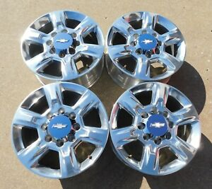 2011 2019 Chevy Silverado 2500hd 3500hd Polished Alloy Wheels Oem 5803