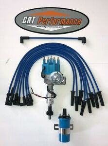 Ford 351c 351m 400 429 460 Small Hei Distributor Blue 45k Coil Blue Wires