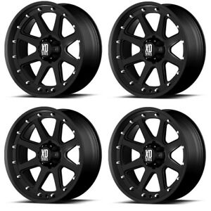 Set 4 17 Xd Series Addict Xd798 17x9 8x6 5 12mm Black Lifted Truck Wheels