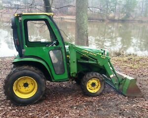 John Deere 4200 Tractor With 420 Loader