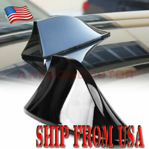 Us Black Top Roof Special Radio Fm Shark Fin Antenna Aerial Signal For Toyota
