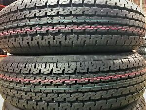 2 New Premium Cargo Max St205 75r15 D 8 Ply Steel Belted Radial Trailer Tires