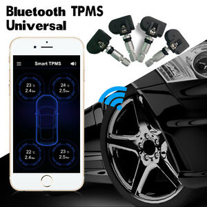 Car Tpms Bluetooth Tire Pressure Monitor System Internal Sensors For Android Ios