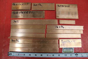 18 Pieces 1 8 1 4 3 8 C110 Copper Bar Solid Flat Mill Bus Bar Stock 6 2 Lbs