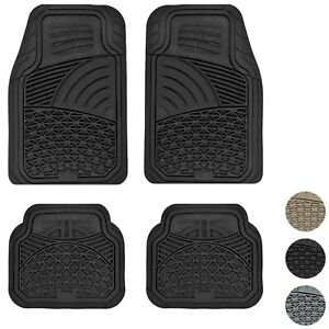 4pc Ultra Heavy Duty All Weather Truck Rubber Floor Mats Liner Set For Chevy Gmc