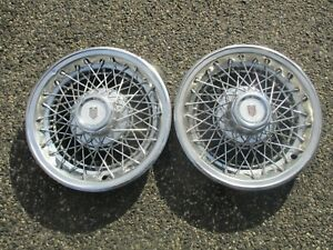 Lot Of 2 1978 To 1980 Chevy Monte Carlo Wire Spoke 14 Inch Hubcaps Wheel Covers