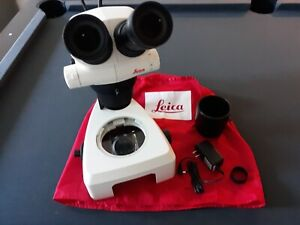Leica S6e Stereo Microscope W Cooling Fiber Optic Light Source