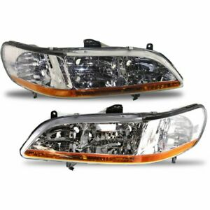 Halogen Headlight Set For 2001 2002 Honda Accord Left Right Pair