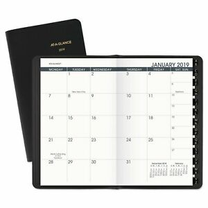 At a glance Pocket size Monthly Planner 3 1 2 X 6 1 8 White 2018 2019