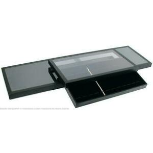 3 12 Slot Bracelet Watch Display Acrylic Lid Tray