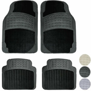 New 4pc All Weather Hd Carpeted Car Rubber Floor Mats Front Back Set Import Cars