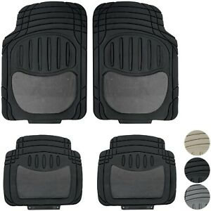 New 4pc Heavy Duty Carpeted Truck Rubber Floor Mats Front Back Set For Chevy Gmc