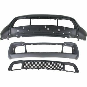 Bumper Cover Kit For 2014 2016 Jeep Grand Cherokee Front 3pc