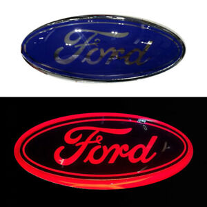 9 Led Red Light Tailgate Emblem Front Grille Badge Nameplate For Ford F150