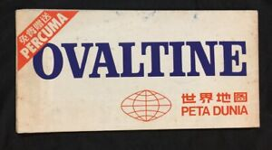 1970 S Ovaltine Advertising Map Of The World Printed In Singapore 1 50 000 000